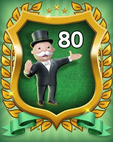 Rank 80 Badge - MONOPOLY Sudoku