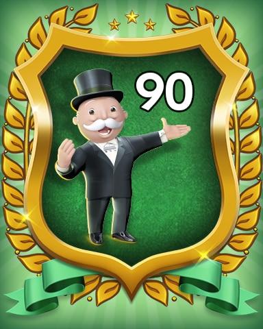 Rank 90 Badge - MONOPOLY Sudoku