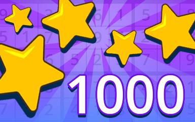 Stars 1000 Badge - Pogo Daily Sudoku