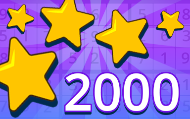 Stars 2000 Badge - Pogo Daily Sudoku
