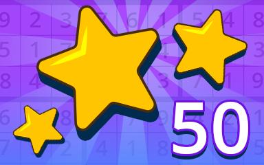 Stars 50 Badge - Pogo Daily Sudoku