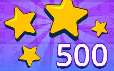 Stars 500 Badge - Pogo Daily Sudoku