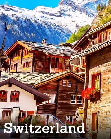 Switzerland Badge - Winter Wonderland