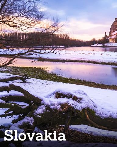 Slovakia Badge - Winter Wonderland