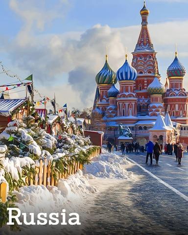 Russia Badge - Winter Wonderland