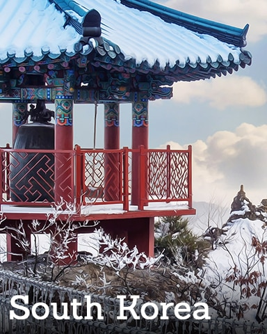 South Korea Badge - Winter Wonderland