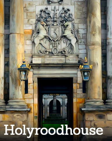 Holyroodhouse Badge - Royal Wedding: One Year Later