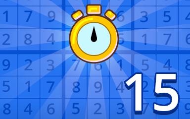 Fast Beginner 15 Badge - Pogo Daily Sudoku