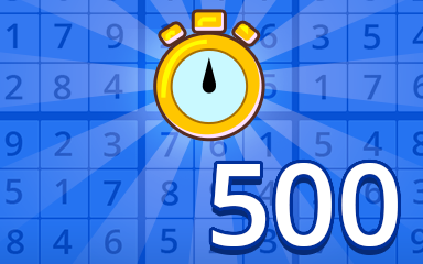 Fast Beginner 500 Badge - Pogo Daily Sudoku