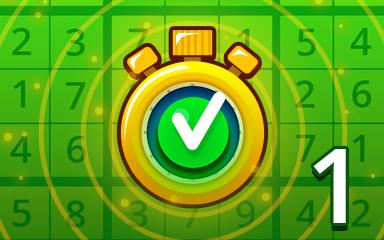 Fast Easy 1 Badge - Pogo Daily Sudoku
