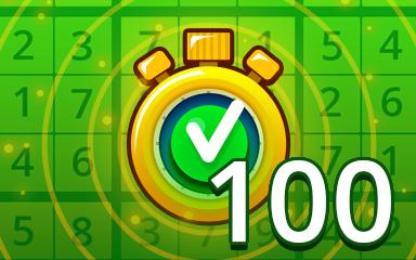 Fast Easy 100 Badge - Pogo Daily Sudoku