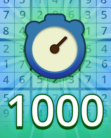 Fast Easy 1000 Badge - Pogo Daily Sudoku