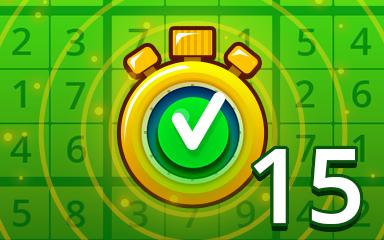 Fast Easy 15 Badge - Pogo Daily Sudoku