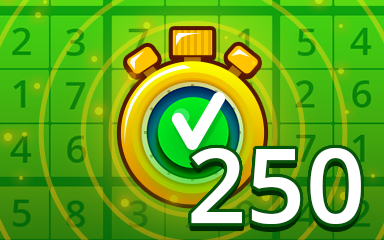 Fast Easy 250 Badge - Pogo Daily Sudoku