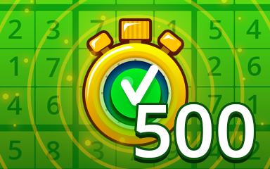 Fast Easy 500 Badge - Pogo Daily Sudoku