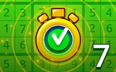 Fast Easy 7 Badge - Pogo Daily Sudoku