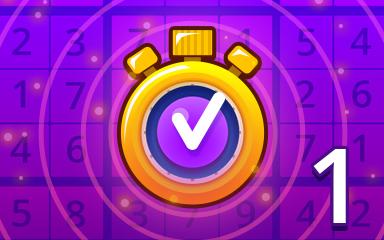 Fast Expert 1 Badge - Pogo Daily Sudoku