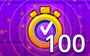 Fast Expert 100 Badge - Pogo Daily Sudoku