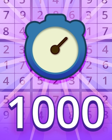 Fast Expert 1000 Badge - Pogo Daily Sudoku
