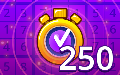 Fast Expert 250 Badge - Pogo Daily Sudoku
