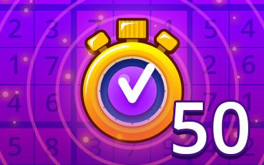 Fast Expert 50 Badge - Pogo Daily Sudoku