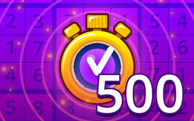 Fast Expert 500 Badge - Pogo Daily Sudoku