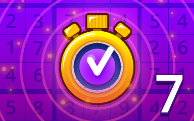 Fast Expert 7 Badge - Pogo Daily Sudoku