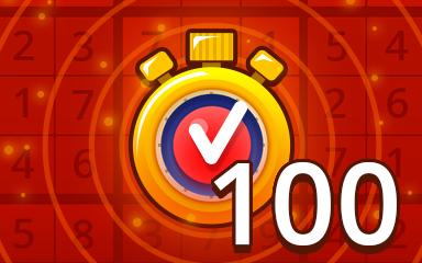 Fast Hard 100 Badge - Pogo Daily Sudoku