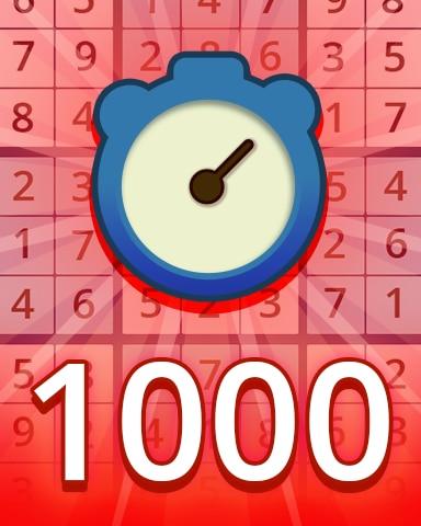 Fast Hard 1000 Badge - Pogo Daily Sudoku
