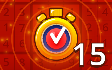 Fast Hard 15 Badge - Pogo Daily Sudoku