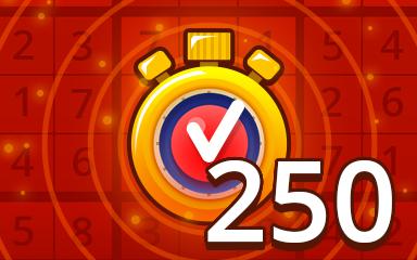 Fast Hard 250 Badge - Pogo Daily Sudoku