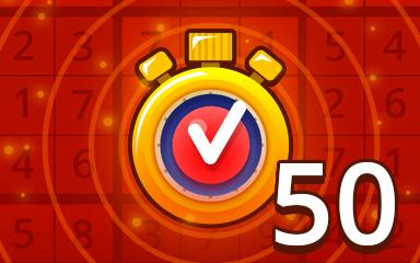 Fast Hard 50 Badge - Pogo Daily Sudoku