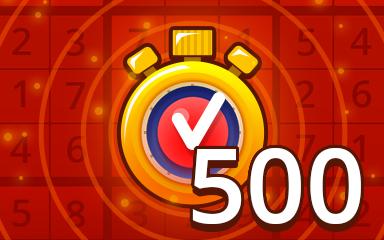 Fast Hard 500 Badge - Pogo Daily Sudoku