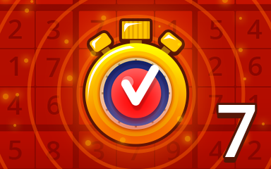 Fast Hard 7 Badge - Pogo Daily Sudoku