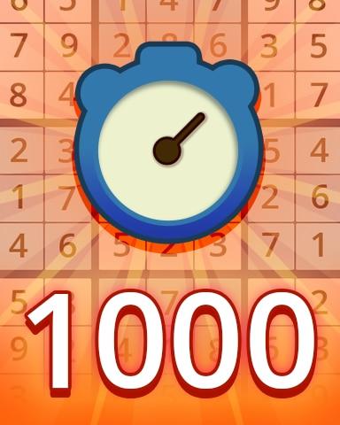 Fast Medium 1000 Badge - Pogo Daily Sudoku