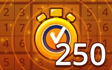 Fast Medium 250 Badge - Pogo Daily Sudoku