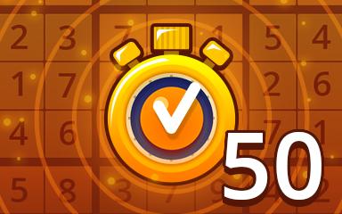 Fast Medium 50 Badge - Pogo Daily Sudoku