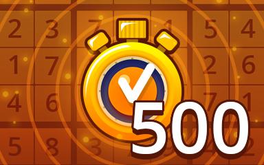 Fast Medium 500 Badge - Pogo Daily Sudoku