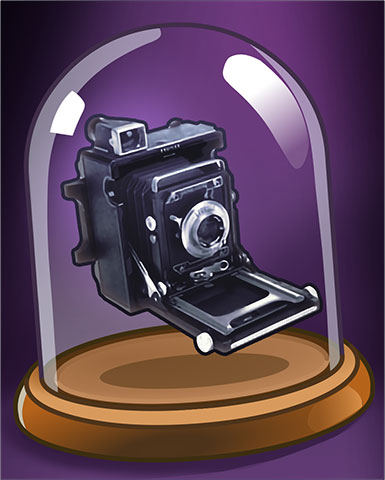Vintage Camera Badge - Claire Hart: Secret In The Shadows