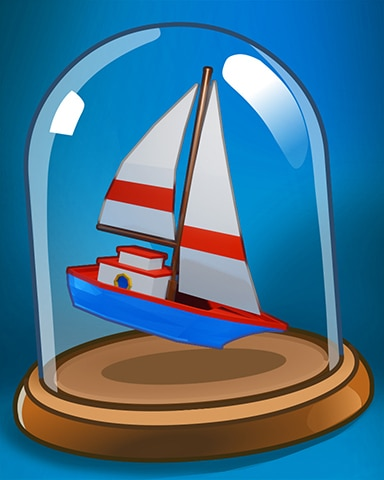 Boat In A Bottle Badge - Anagrams