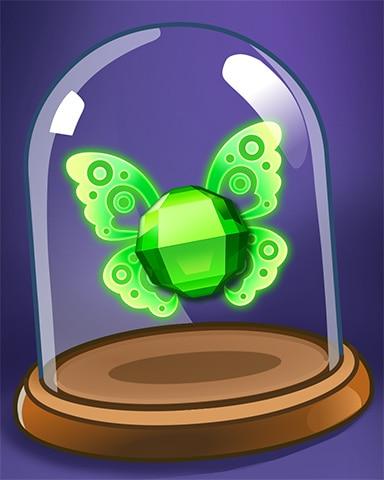 Angelic Green Gem Badge - Bejeweled Stars