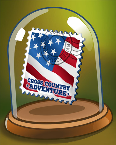 Commemorative Stamp Badge - Cross Country Adventure