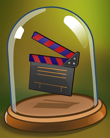 Clapping Clapperboard Badge - Cross Country Adventure