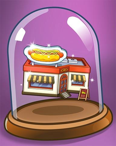 Hot Dog Shop Badge - Dice City Roller HD