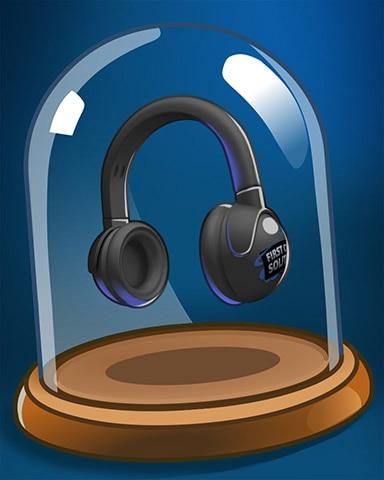 Fancy Headphones Badge - First Class Solitaire HD