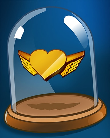 Heart Wings Badge - First Class Solitaire HD