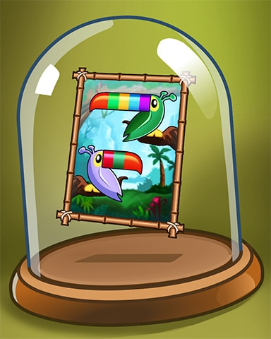 Colorful Toucans Badge - Jungle Gin HD