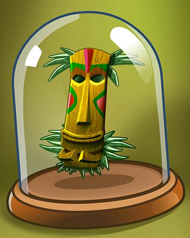 Ancient Tiki Mask Badge - Jungle Gin HD