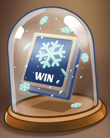 Glass Of Winter Badge - Mahjong Garden HD