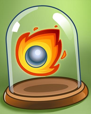 Shiny Fireball Badge - Peggle Blast HD